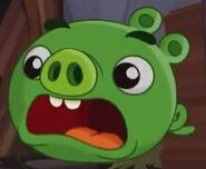 Свинёнок испуганный