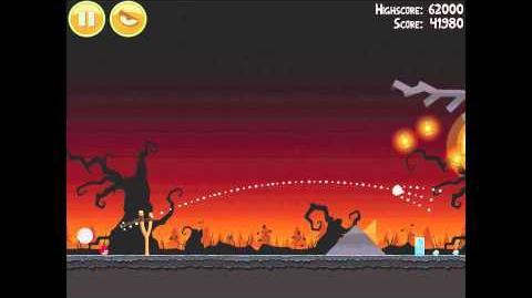 Angry Birds Seasons Trick or Treat 1-4 Halloween 2011 Walkthrough 3 Star