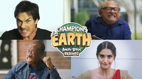 Champions For Earth - Celebrities get ANGRY about climate change in Angry Birds Friends!