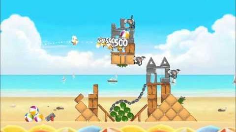 Official Angry Birds Rio Walkthrough Beach Volley 5-1