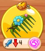 Расческа с цветком