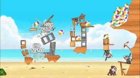 Official Angry Birds Rio Walkthrough Beach Volley 6-15