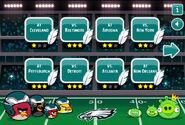 Angry Birds Philadelphia Eagles выбор уровня