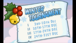 Winter Tournament Sign