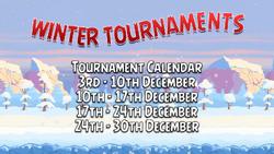 Winter Tournament Sign