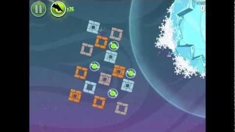 Angry Birds Space Cold Cuts 2-16 Walkthrough 3-star