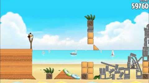 Official Angry Birds Rio Walkthrough Beach Volley 6-4