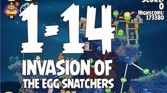 Angry Birds Seasons Invasion of the Egg Snatchers 1-14 Walkthrough 3 Star
