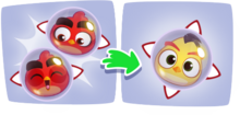 Angry Birds Dream Blast Combinar a Red