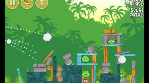 Angry Birds 21-13 Bad Piggies 3 Star Walkthrough (Angry Birds Classic 21-13)