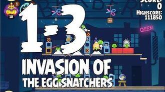 Angry Birds Seasons Invasion of the Egg Snatchers 1-3 Walkthrough 3 Star