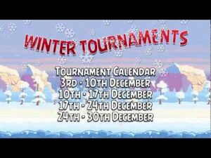 Angry Birds Friends Winter tournament - 4 weekly tournaments starting now!