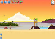 Angry Birds Facebook - Pigini Beach - Level 1