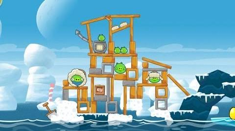 Angry Birds Seasons Arctic Eggspedition 1-1 Walkthrough 3 Star