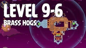 Angry Birds Space Brass Hogs 9-6 Walkthrough 3 Star