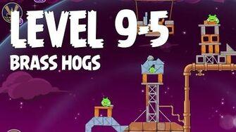 Angry Birds Space Brass Hogs 9-5 Walkthrough 3 Star