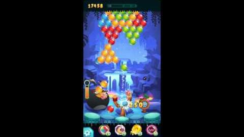 Angry Birds POP! Level 17 Walkthrough - Time Bomb! (Waterfall!)