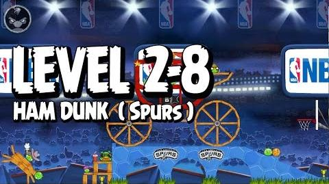 Angry Birds Seasons Ham Dunk 2-8 - Spurs - Walkthrough 3 Star