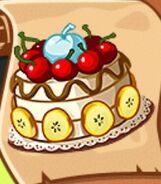 Красивый фруктовый кекс