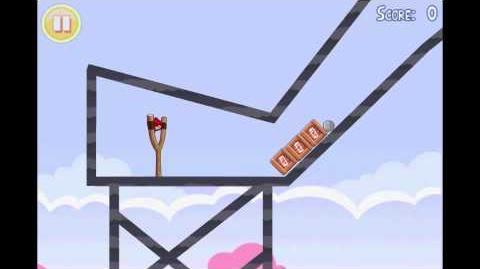 Angry Birds Seasons Hogs and Kisses Golden Egg 5 Walkthrough