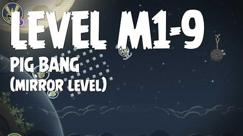 Angry Birds Space Pig Bang Level M1-9 Mirror World Walkthrough 3 Star
