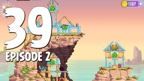 Angry Birds Stella Level 39 Episode 2 Beach Day Walkthrough