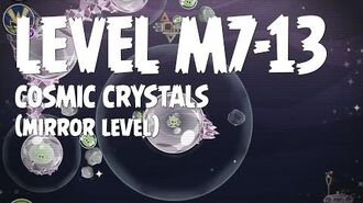 Angry Birds Space Cosmic Crystals Level M7-13 Mirror World Walkthrough 3 Star