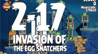 Angry Birds Seasons Invasion of the Egg Snatchers 2 17 Walkthrough 3 Star