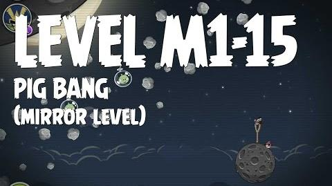Angry Birds Space Pig Bang Level M1-15 Mirror World Walkthrough 3 Star