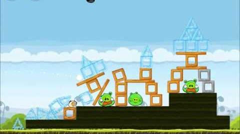 Official Angry Birds Walkthrough Mighty Hoax 4-15