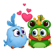 ABM Stickers - Two Kissing Hatchlings