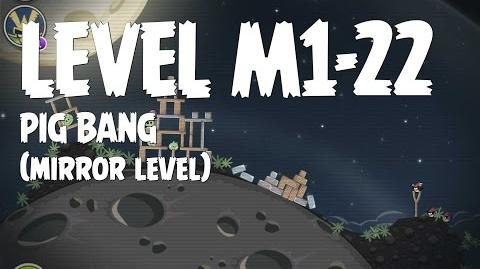 Angry Birds Space Pig Bang Level M1-22 Mirror World Walkthrough 3 Star