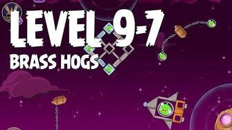 Angry Birds Space Brass Hogs 9-7 Walkthrough 3 Star
