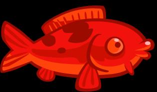 Красная статуэтка рыбы кои