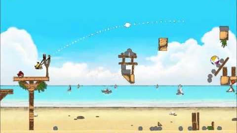 Official Angry Birds Rio Walkthrough Beach Volley 6-14