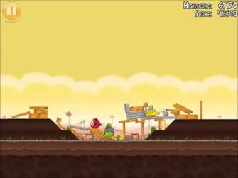Official Angry Birds Walkthrough The Big Setup 10-1