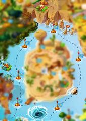 Известковая лагуна на карте
