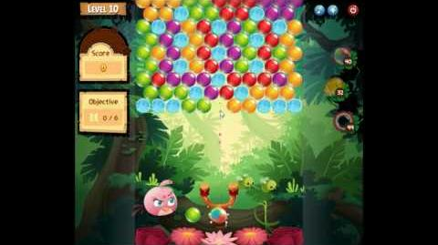 Angry Birds POP! How to use a rainbow bubble