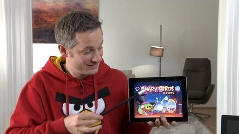 Magician uses iPad to create Angry Birds magic - Simon Pierro with Abra-Ca-Bacon!