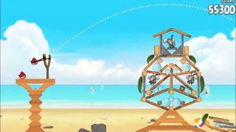 Official Angry Birds Rio Walkthrough Beach Volley 5-4