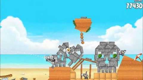 Official Angry Birds Rio Walkthrough Beach Volley 5-15
