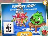 Свин-пират на экране перед стартом уровня 2