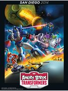 Angry Birds Transformers Battle Poster