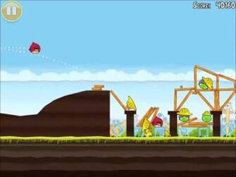 Official Angry Birds Walkthrough The Big Setup 10-3