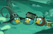 Синие птицы в костюмах