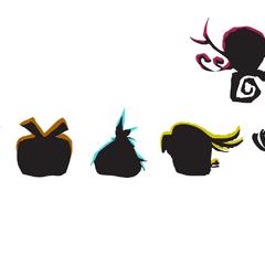 sombras de las nuevas aves del juego (parte de la campaña promocional)