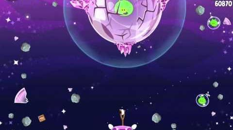 Angry Birds Space S-17 Cosmic Crystals Bonus Level Walkthrough