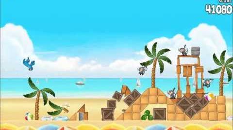 Official Angry Birds Rio Walkthrough Beach Volley 5-11