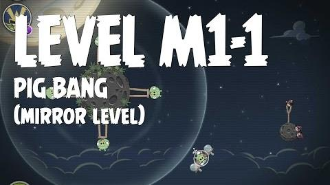 Angry Birds Space Pig Bang Level M1-1 Mirror World Walkthrough 3 Star
