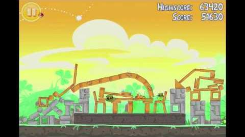 Angry Birds Seasons Go Green, Get Lucky 3 Star Walkthrough Level 4